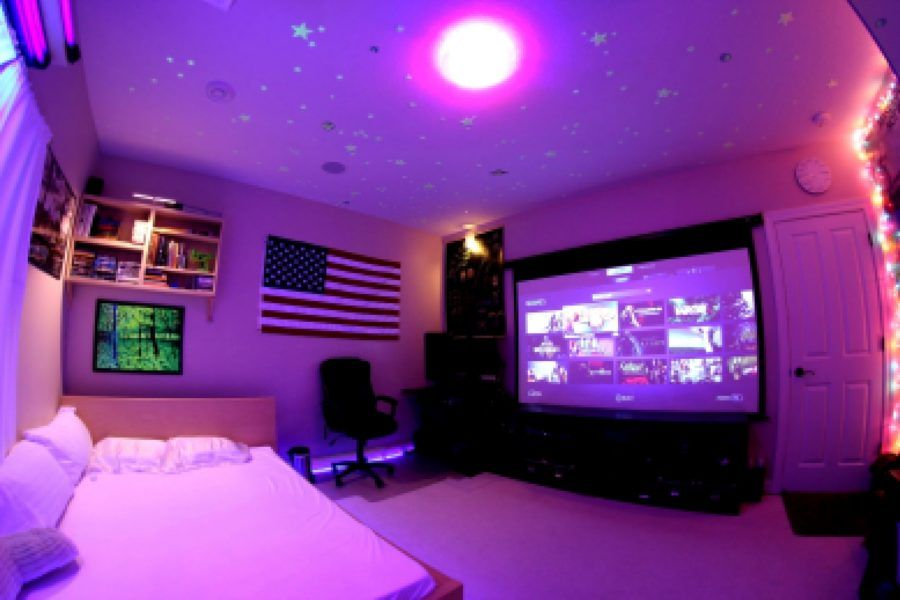 50 awesome video game room decoration ideas. Black Bedroom Furniture Sets. Home Design Ideas
