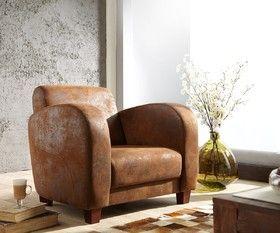 Sessel Vernice Braun Wildlederoptik Lounge Mobel Delife Interior Chair Armchair