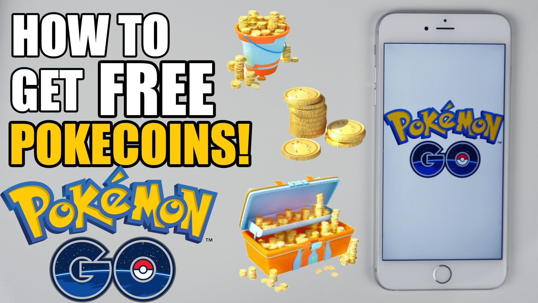 FREE PokemonGO Coins. Get as many as you can UNLIMITED TIME. Pokecoins