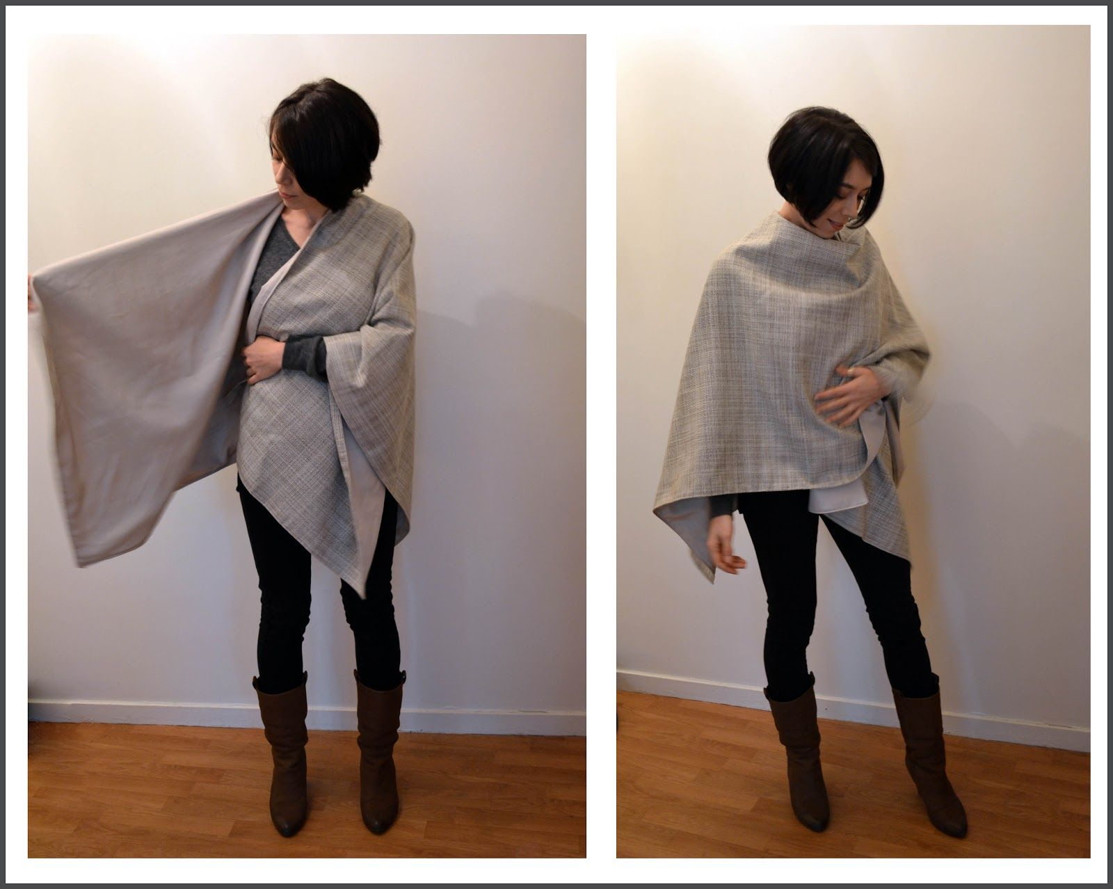 Funky Sunday: Tuto-seam: The free pattern of the poncho cape must be ...