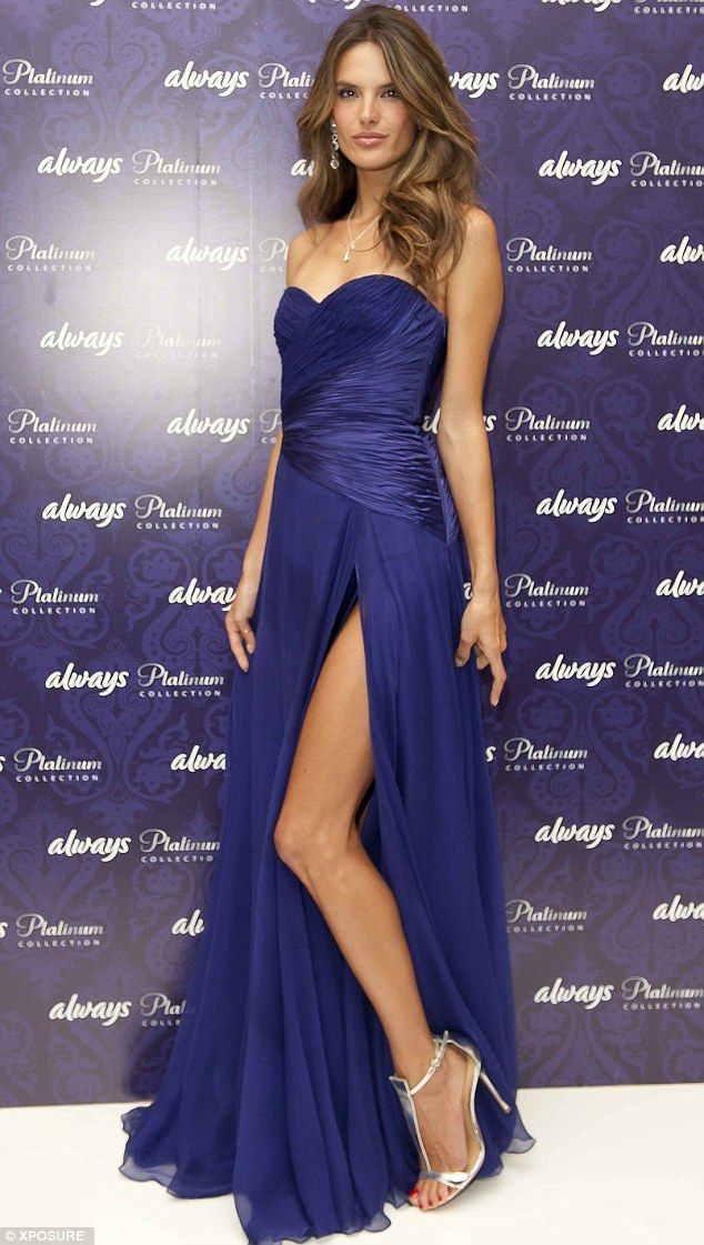 Purple reigns: Alessandra Ambrosio stuns in strapless violet gown ...