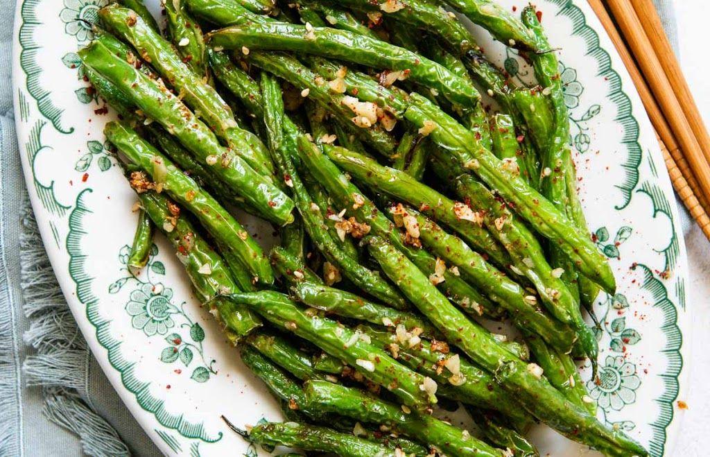 Chinese garlic green beans recipe in 2020 chinese