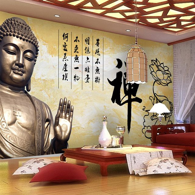 Vintage Wall Mural 3d Buddha Photo Wallpaper Large Wallpaper Art Room Decor Kids Boys Bedroom Sofa Wall Paper Bu Kid Room Decor Vintage Walls Buddha Home Decor