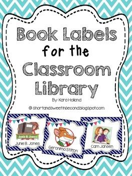 Nautical Blue and White Book Labels for the Classroom Library