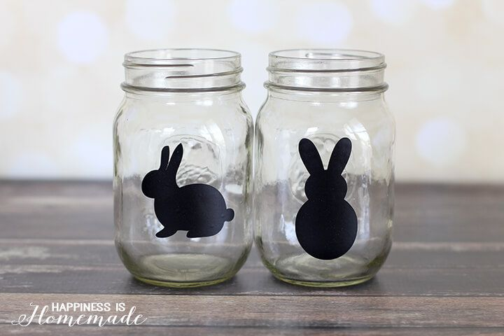 Easter bunny treat jars bunny easter and glass easter bunny treat jars negle Choice Image
