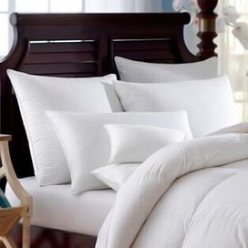 """Bring plush comfort to your master suite or guest room with this bedding essential, inspiring Sunday morning sleep-ins and indulgent afternoon naps.  Product: ComforterConstruction Material: Cotton cover and down fillColor: WhiteFeatures:  650+ Fill powerLightweight, summer warmth fill Dimensions: Twin: 68"""" x 86""""Queen: 86"""" x 86""""King: 86"""" x 104"""""""