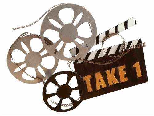 Film Reel Take One Movie Theme Wall Decor Movie Wall Art Iron Wall Decor Metal Wall Art Decor