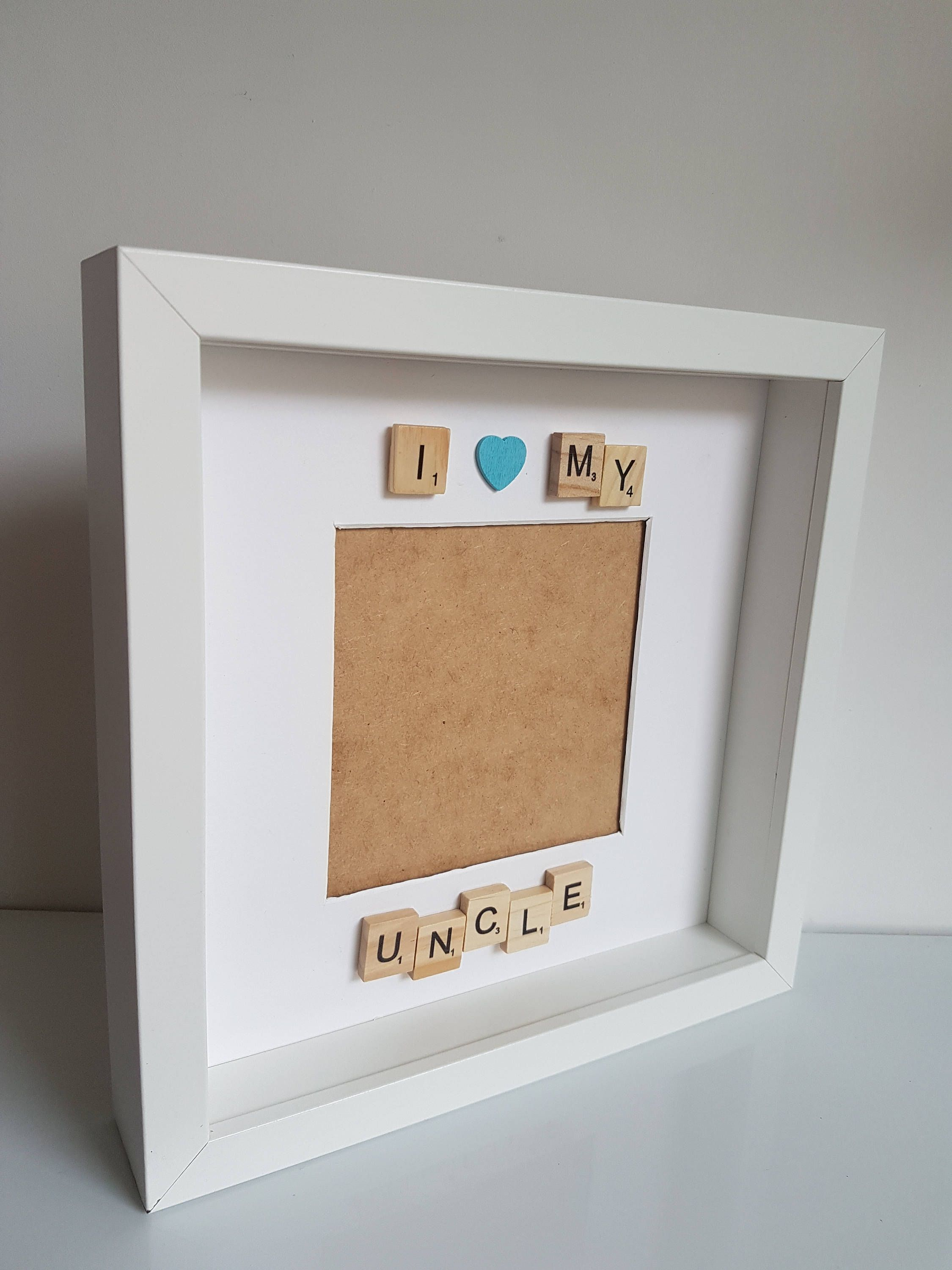 I Love My Uncle Scrabble Frame Fathers Day Gift For Uncle Box