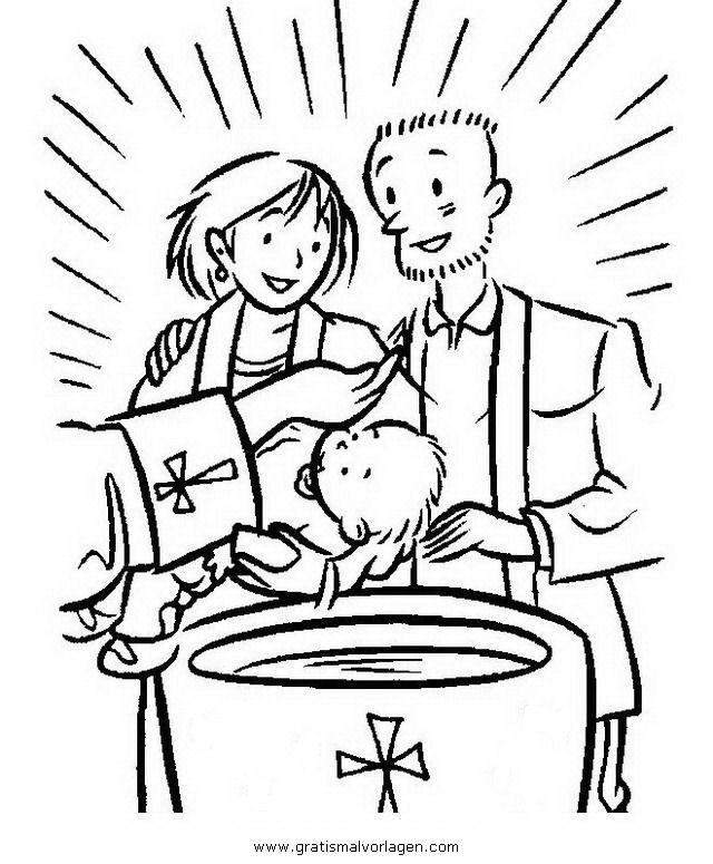 Taufe2 In Religionen Gratis Malvorlagen Kolorowanki Bibel