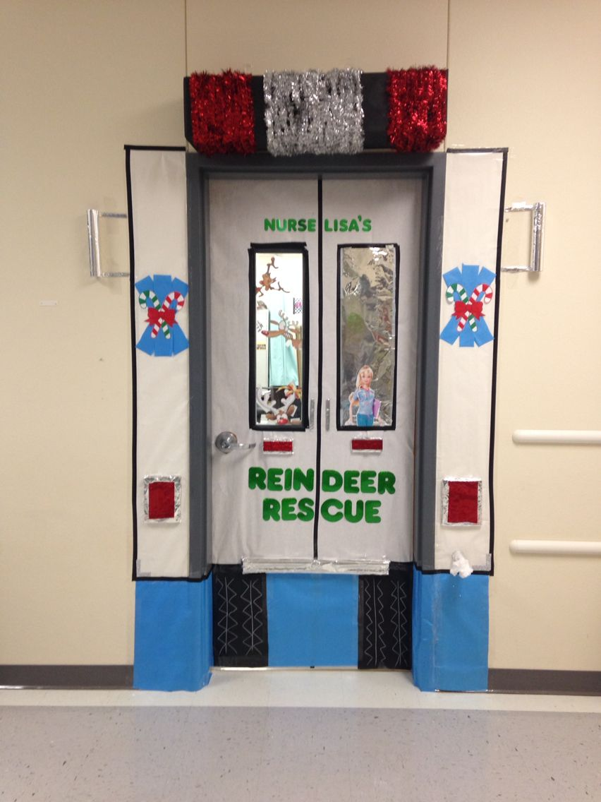 School Nurse Christmas Door Decorations!