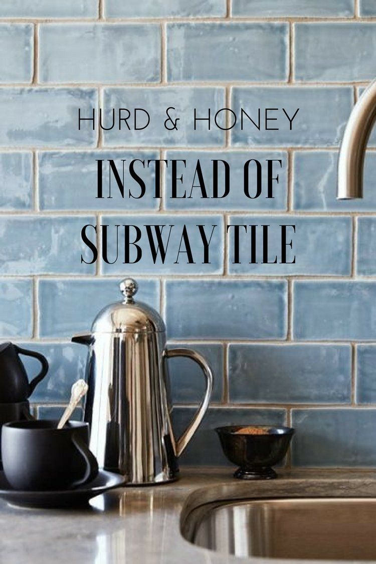 Instead of Subway Tile - Kitchen Backsplash Ideas