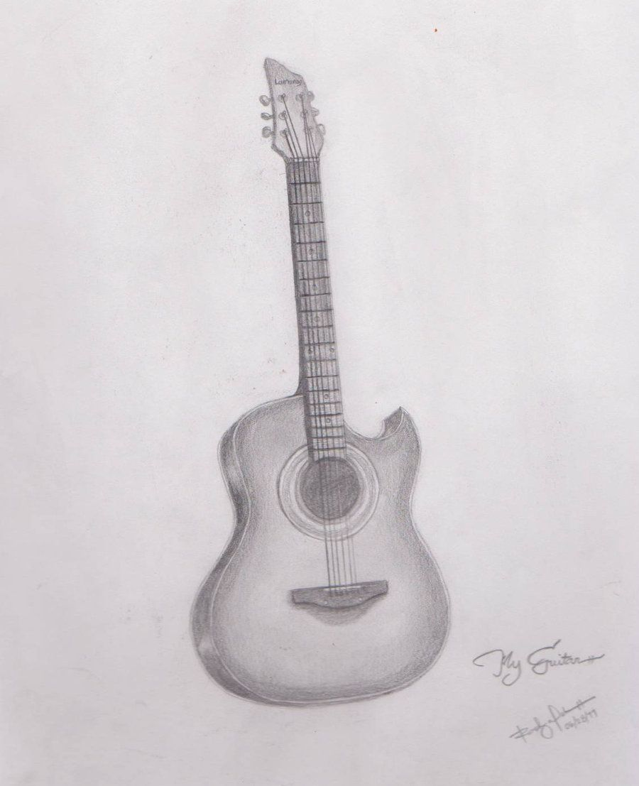 Pencil drawings of guitars my guitar drawing by radexopoblete on deviantart