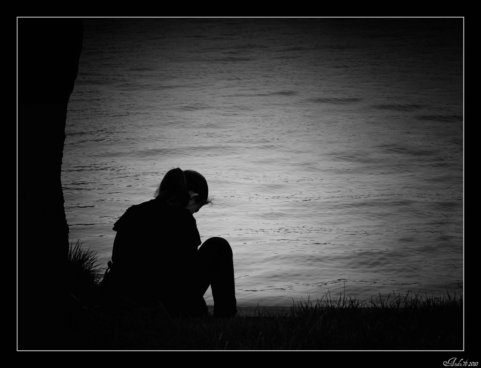 Sad Girl Dpz Black And White Photography