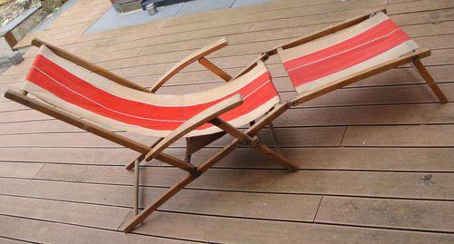 transat ancien chaise longue en bois des ann es 30 mobiliers furniture pinterest. Black Bedroom Furniture Sets. Home Design Ideas