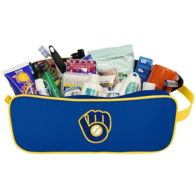 Charm14 Mlb Milwaukee Brewers Travel Case With Embroidered