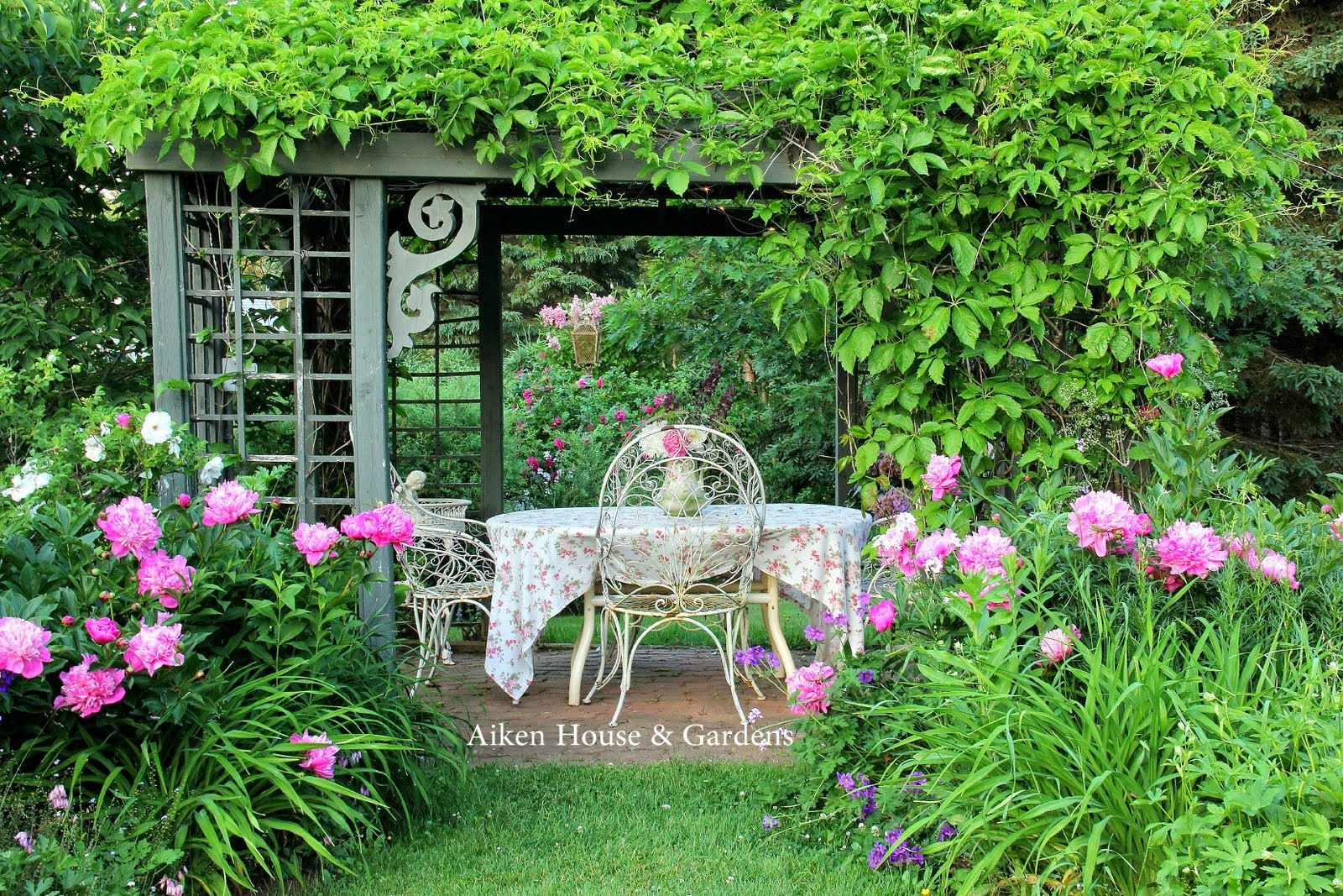 Aiken House & Gardens: In an English Country Garden | Relaxing ...