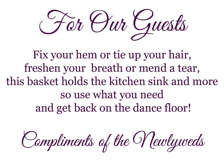 Wedding Printable Bathroom Basket Poem Sign   12 00  via Etsy. Wedding Printable Bathroom Basket Poem Sign   12 00  via Etsy