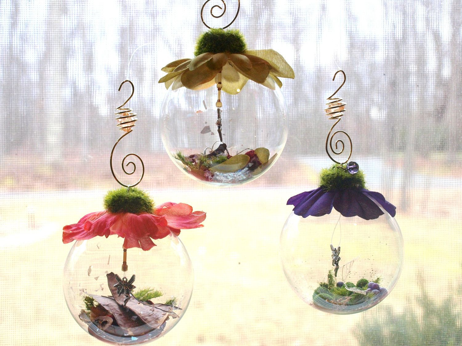Glass globe ornaments - Reserved For Sarah 20 Fairy Globes First Birthday