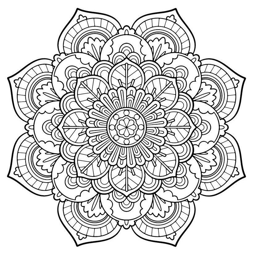 dibujos-mandalas-para-imprimir-dificiles.jpg (820×830) | Coloring ...