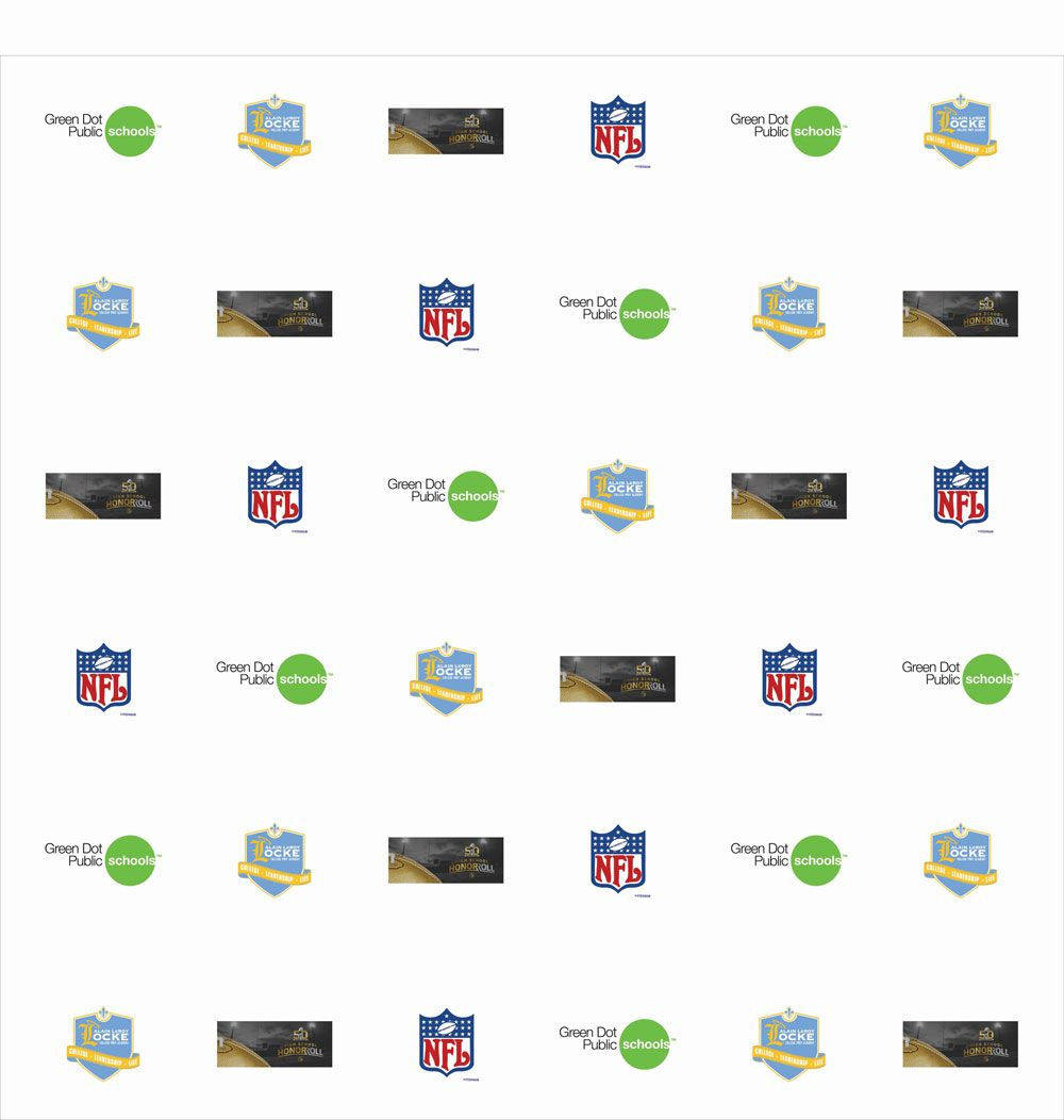 Nfl Super Bowl 50 High School Honor Roll Golden Football Presentation Retractable Banner Stand Retractable Banner Banner Backdrop