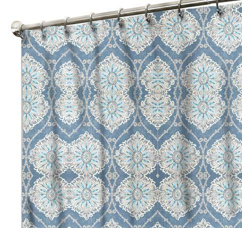 Shower Curtain Leverett Denim Fabric Shower Curtains Vintage