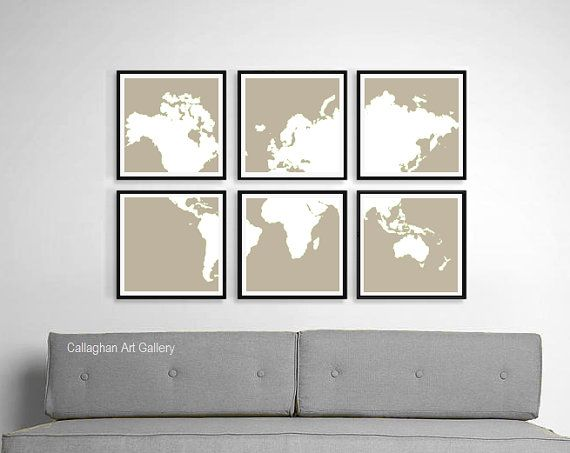 Distressed world map wall art print rustic home decor vintage distressed world map wall art print rustic home decor vintage map artwork custom made gumiabroncs Image collections
