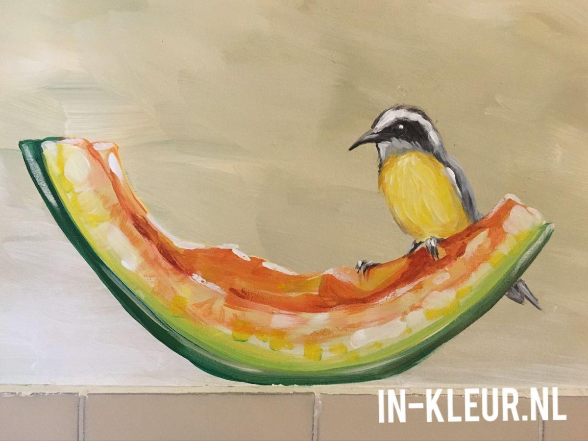 Buitenmuur Decoratie Vogels