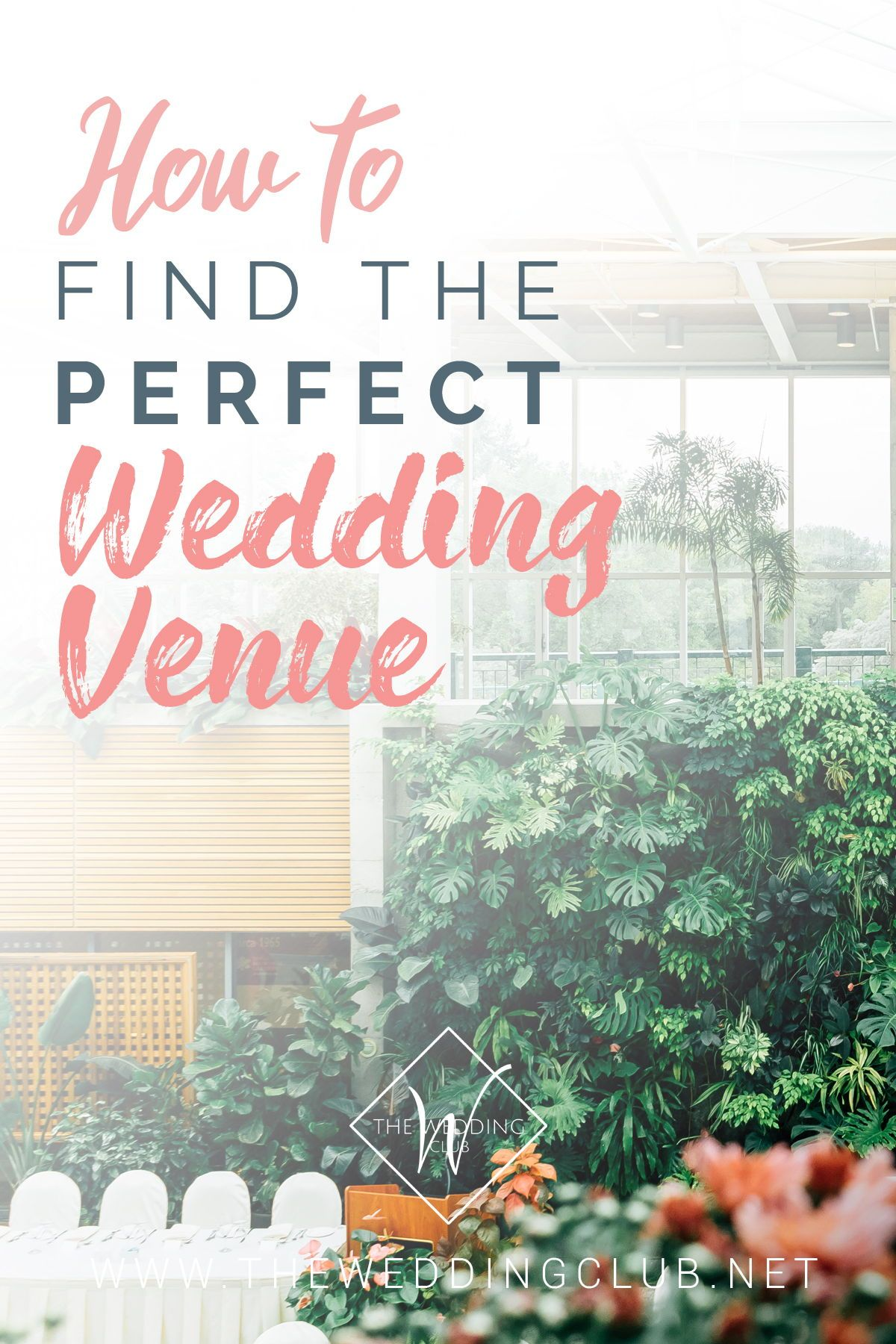 How to find the perfect wedding venue! A guide to locating that stunning location you've always dreamed of + what to look for, elements needed at a venue, etc. Here at TWC we aim to provide as many useful posts as possible to the bride who wants to plan her own wedding. #weddings #brides #wedding2020 #weddingtips #weddingvenue