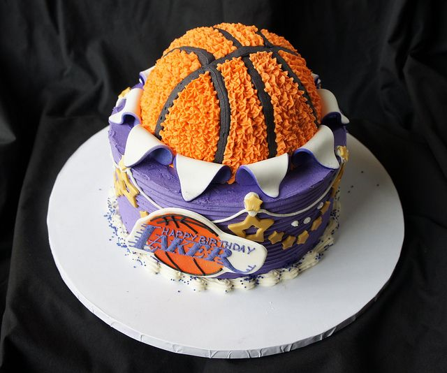 Lakers Birthday Cake Cake Los angeles lakers and La lakers