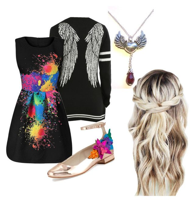 """""""Colorful angel"""" by sammie2003smith ❤ liked on Polyvore featuring Sophia Webster"""