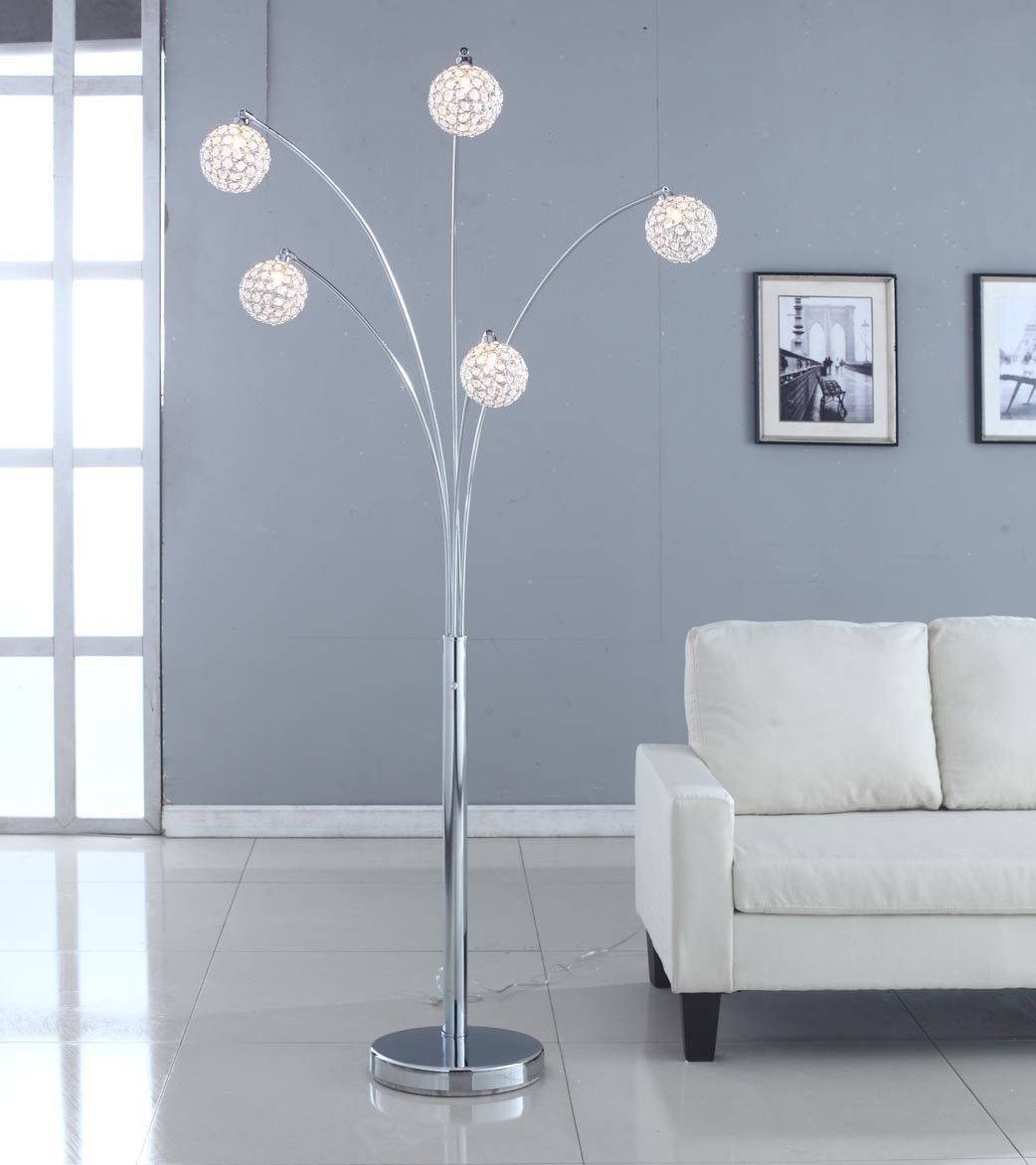 Manhattan 5 arch crystal ball arched floor lamp products floor lamps aloadofball Images