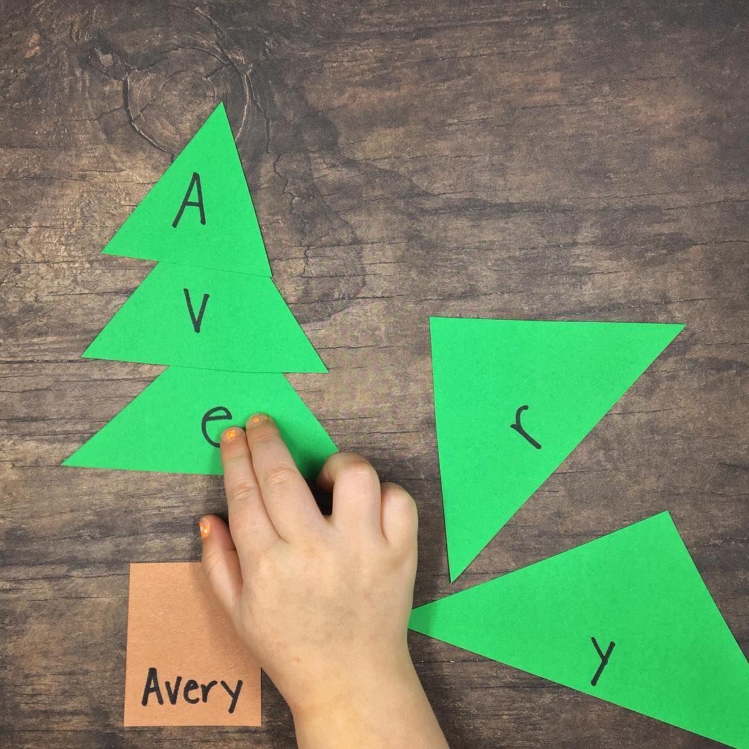 Fun Diy Name Puzzle For Christmas Build The Christmas Tree As You S Preschool Christmas Activities Christmas Literacy Activities Christmas Learning Activities