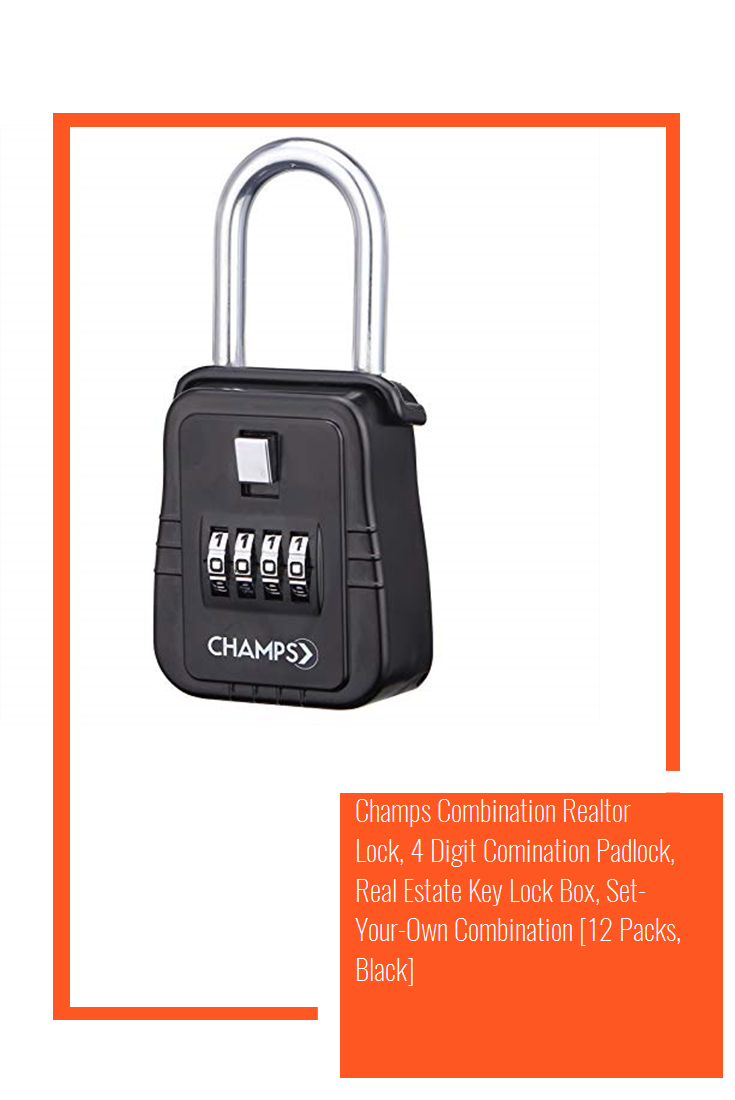 Champs Combination Realtor Lock 4 Digit Comination Padlock Real Estate Key Lock Box Set Your Own Combination 12 Packs Black In 2020 Key Lock Lockbox Lock