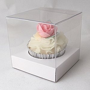 906196abcdc1 Clear Square Cupcake boxes: 90mm | Paper boxes in 2019 | Single ...