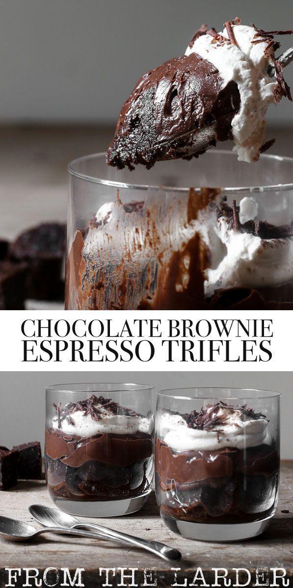 Chocolate Brownie Espresso Trifles (gluten-free) Chocolate Brownie Espresso Trifles are a luxurious gluten-free dessert for fiendish chocolate lovers.