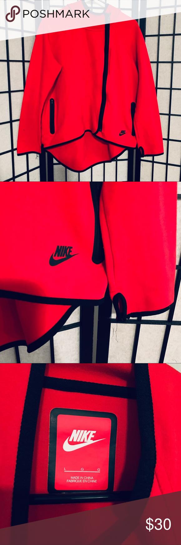 Nike Tech Fleece Pack 1MM cape red sz L Full zip Hoodie