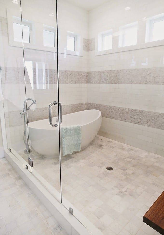 21+ Unique Bathtub Shower Combo Ideas for Modern Homes ... on Wet Room With Freestanding Tub  id=36278