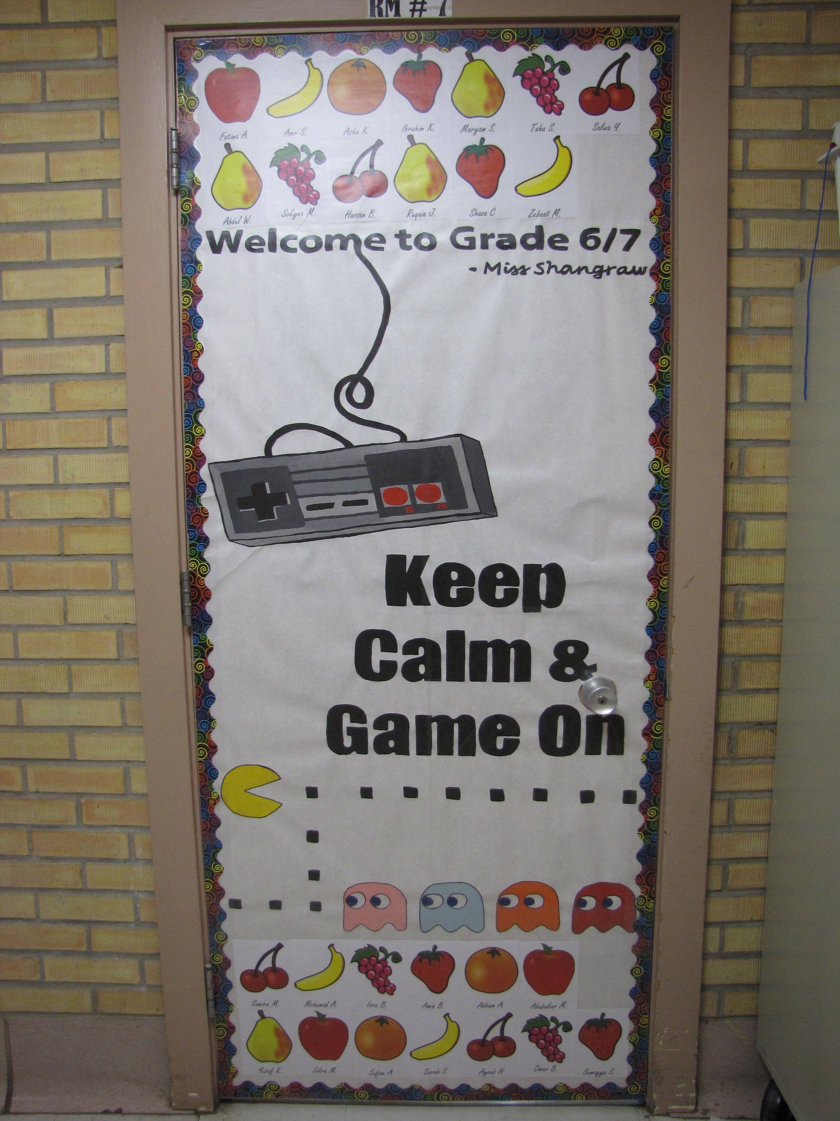 Classroom Design Games ~ Video game theme classroom door design the second grade