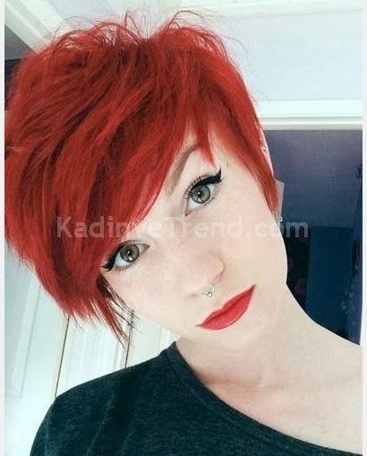 Kızıl Kısa Saç Modelleri 2017 Saç Kesimleri Ve Renkleri Shaggy