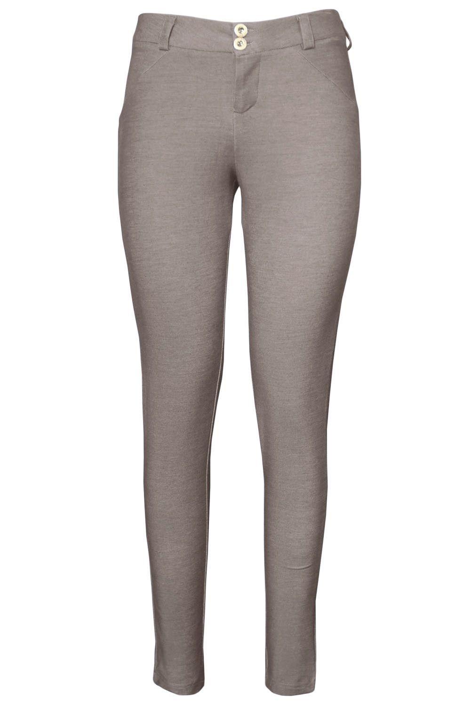 Shaping Effect Skinny Grayish Denim Jersey Pants