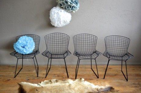 Chaise Bertoia Side Chair Années 50 Chaise Métal Design Idées Pour