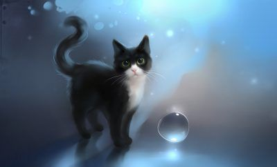 Download Free Anime Cat Wallpaper Cute Anime Animals Pinterest