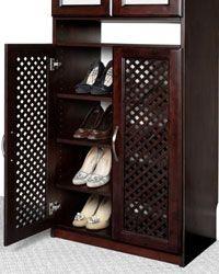 Closet Organizers Shoe Rack Behind Lattice Doors Shoe Storage Design Closet Shoe Storage Shoe Organization Closet