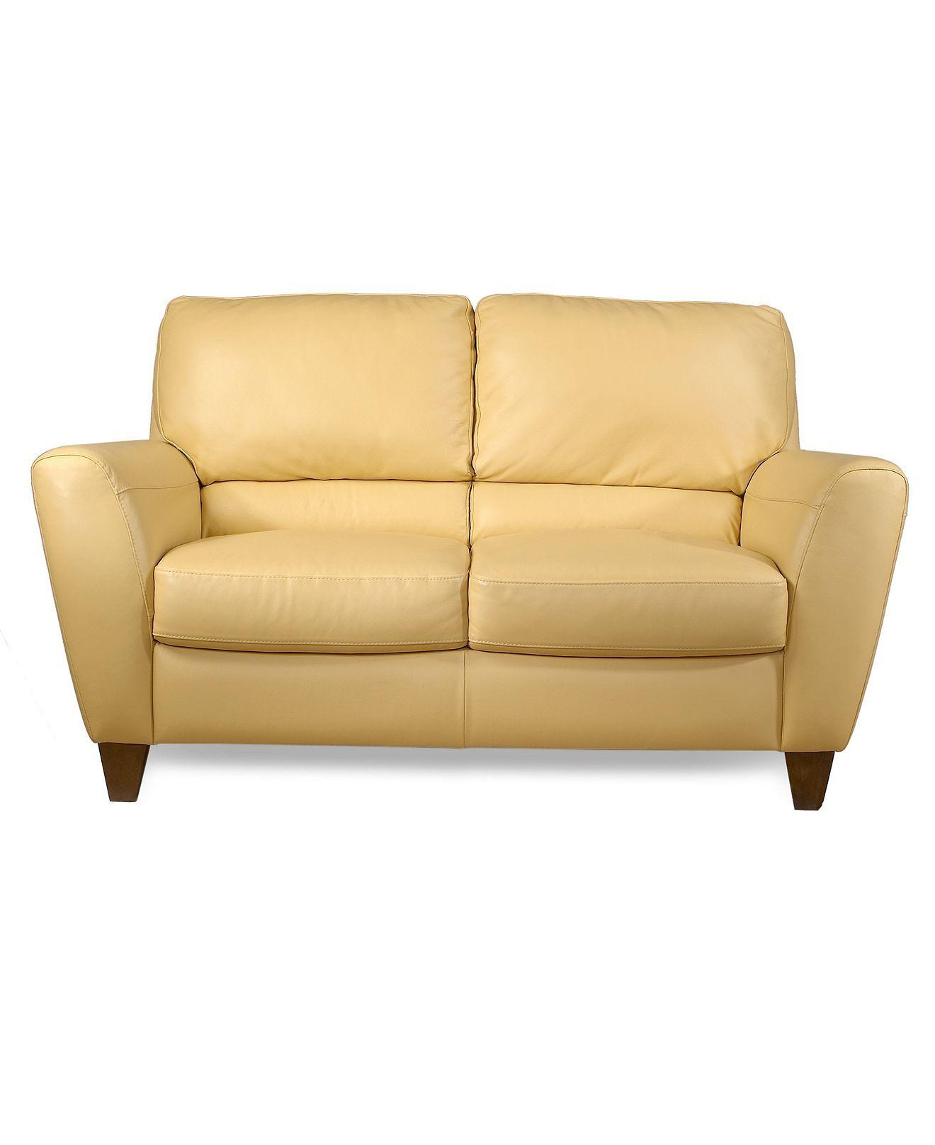 Enjoyable Almafi Leather Loveseat 63W X 38D X 36H Furniture Creativecarmelina Interior Chair Design Creativecarmelinacom
