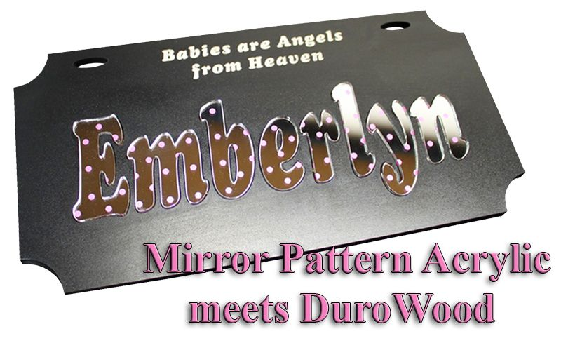 Mirror Pattern Acrylic Sheets are ideal adding bling to your laser project. Rich looking graphics are embedded in the mirror film backing prior to lamination on the acrylic sheet. The result is a durable graphic with a mirror look that can be engraved and cut with a laser. Ideal for vector cut letters and shapes for key rings, plaque plates and many other applications.     For more information, please visit: http://www.laserbits.com/index.php?main_page=index=159_738