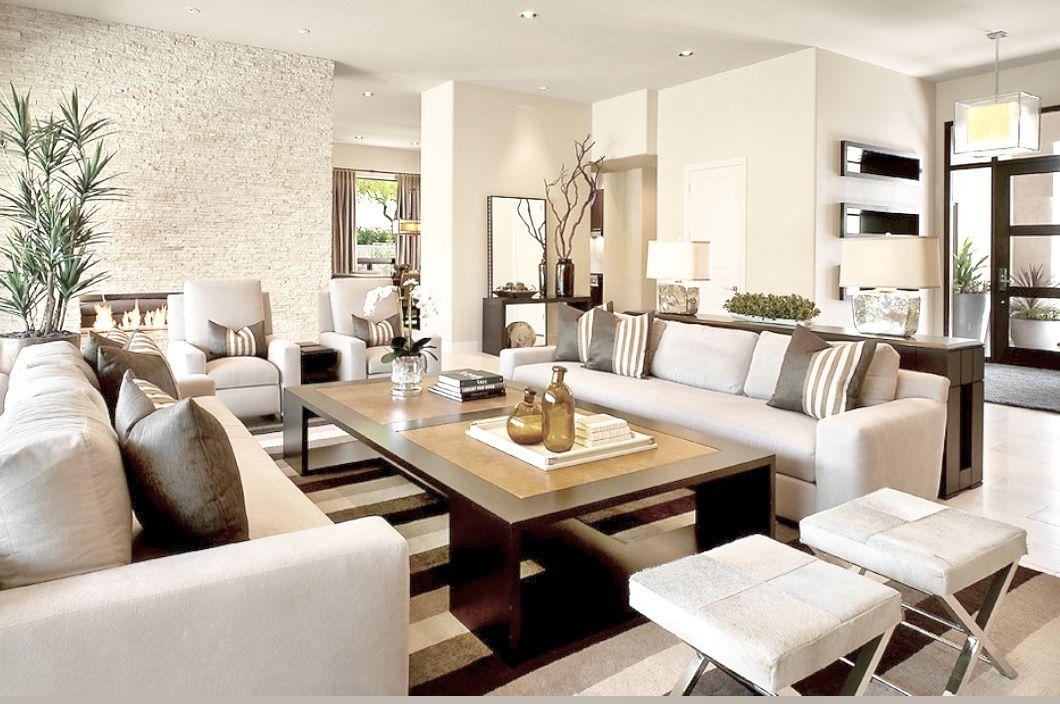 Modern Monochromatic Living Room Decor Living Room Dining Room Combo Rectangular Living Rooms Dining Room Combo #small #living #room #and #dining #room #combined #ideas