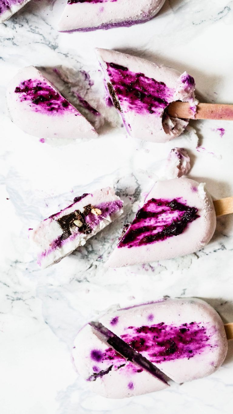 Dragonfruit Popsicles With Chocolate Core Sumer Theme