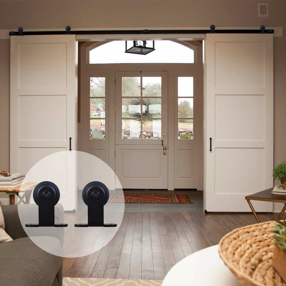 Ccjh T Shaped Country Classic Steel Sliding Barn Interior Door