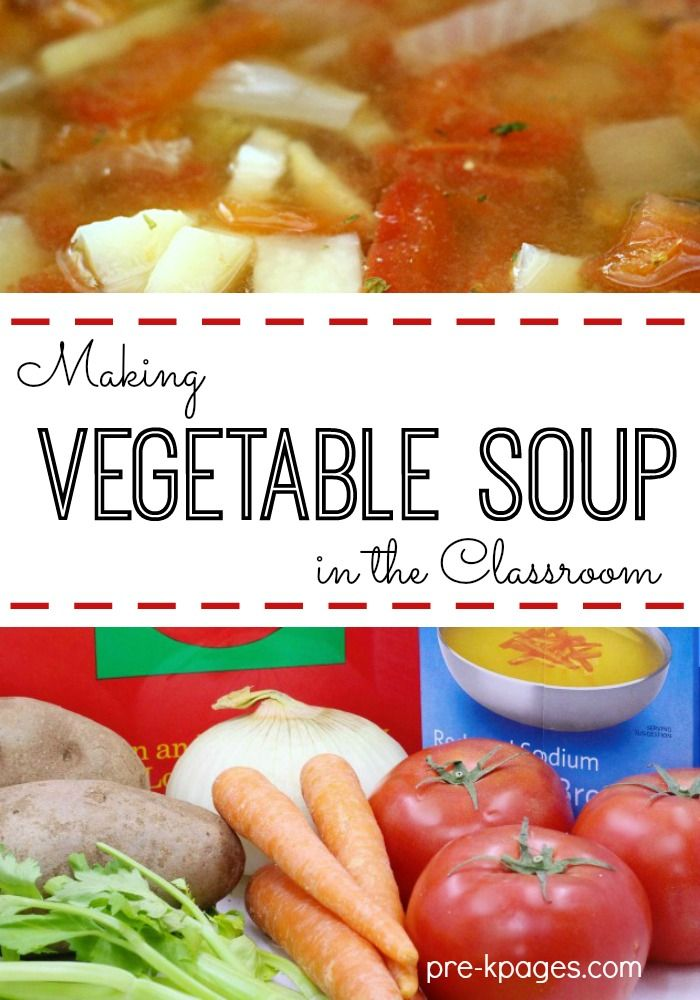 Classroom Recipes: Vegetable Soup. Introduce your kids to nutrition by reading a classic book and making vegetable soup in your crockpot! This recipe is perfect for Preschool or Kindergarten Kids to Make at Home or School!
