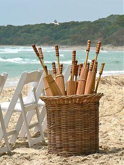 Clever Idea for beach wedding